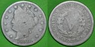 USA 5 centów cents, V cents, 1890 -M18-