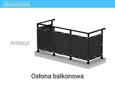 Oslona Balkonowa Rattanowa 75x600cm Antracyt 6118518792 Oficjalne Archiwum Allegro