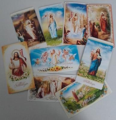 KARTKI SKŁADANE WIELKANOC 25sz RELIGIJNE BROKAT 9B