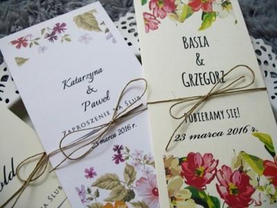 Zaproszenia ślubne Na ślub Cywilny Kwiaty Hit Mm 6252285617