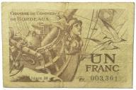 20.Francja, Bordeaux, 1 Frank 1921, St.3