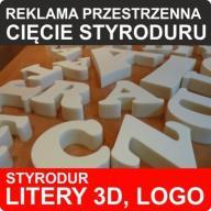 Litery przestrzene 3D styrodur reklama logo 30 CM