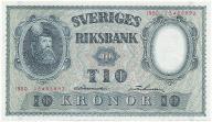 3947. Szwecja 10 kronor 1950 st.1-