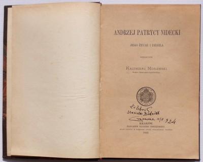 ANDRZEJ PATRYCY NIDECKI Kazimierz Morawski 1892