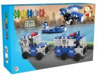 CLICS Klocki Hero Squad Police 135 el. POLICJA 8w1