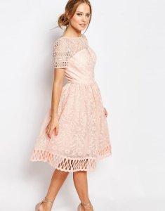 9d8a0ef3f7 CHI CHI LONDON różowa sukienka midi koronka XL 42 - 6199227551 ...