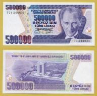-- TURCJA 500000 LIRASI 1970 (1998) I74 P212 UNC
