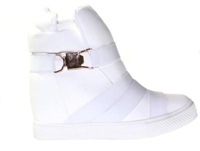Złote Sneakers na Koturnie Extra Panterka 38