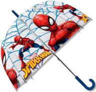 głęboka TRANSPARENTNA parasolka SPIDERMAN