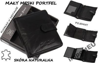 2cf18b2675f0a mały męski PORTFEL PAUL ROSSI skórzany SKÓRA  843 - 3360447920 ...