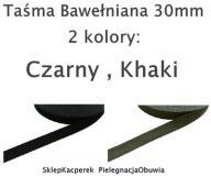 Taśma Bawełniana Pasek 30mm (k:: Czarny)