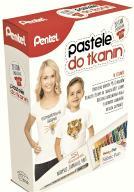 Pastele do tkanin 15kolorów+koszulka Pentel