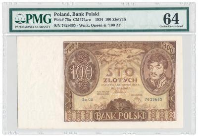 2046. 100 zł 1934 M.74c - PMG 64