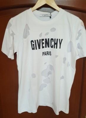 Masywnie T-shirt Givenchy dziury - 6852798400 - oficjalne archiwum allegro KS96