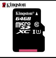 microSD XC 64 GB Kingstom 80MB/s
