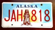 Alaska NOWY WZÓR - tablica rejestracyjna USA