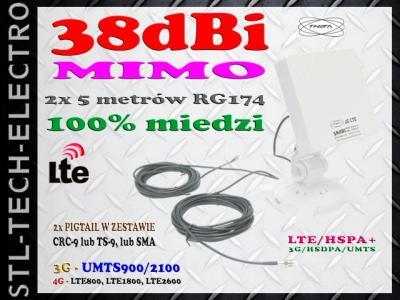 ANTENA DUAL LTE 4G E3272 E3276 E3372 TS-5 CRC9 SMA