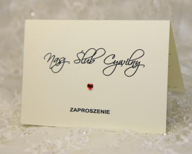 Zaproszenia ślubne Zawiadomienia Na ślub Cywilny 4341694644