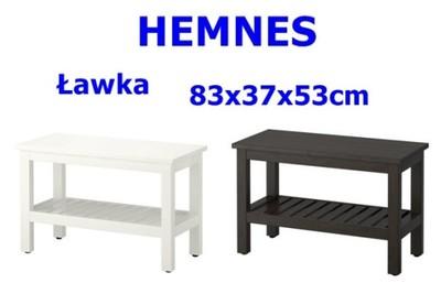 Ikea Hemnes ławka Do łazienki 83x37x53 2 Kolory 6093936731