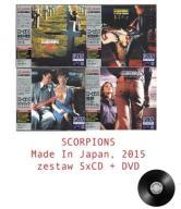 SCORPIONS zestaw 4 tytuły DELUXE JAPAN 5xCD+DVD