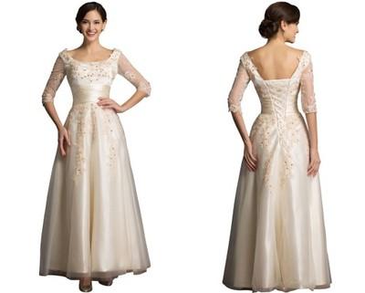 fb5719dd20 suknia ślubna SUKIENKA ŚLUB CYWILNY WESELE AJ 214 - 6705380485 ...