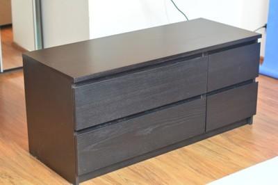 Komoda Ikea Malm Szafka Pod Tv Czarna Wenge ładna 6733207630