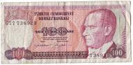 TURCJA   100  LIRASI   1970   B1