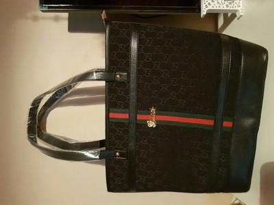 5199f2d029ccc Torba torebka Gucci czarna logowana nowa a4 - 6720707878 - oficjalne ...