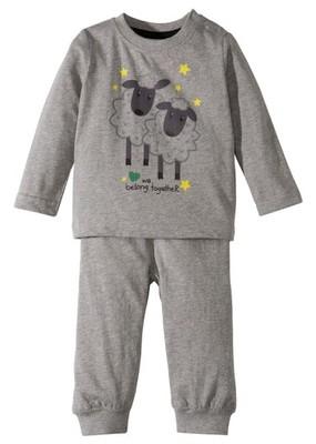 Koszulka niemowlęca z długi szary 104/110 934202