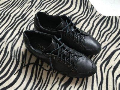 61924d25e8763 GEOX czarne skorzane buty meskie logowane 42 - 6318996203 ...