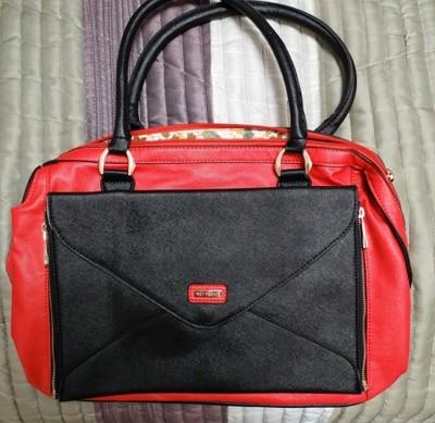 edbe376b92474 Torebka WITTCHEN czerwona czarna NOWA + kopertówka - 6724367032 ...