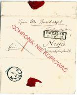 Wrocław Breslau, list 1858 Nysa