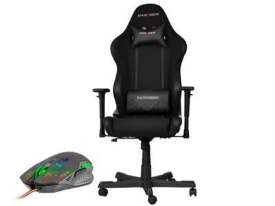 Fotel dla gracza gamingowy DXRacer Racing czarny