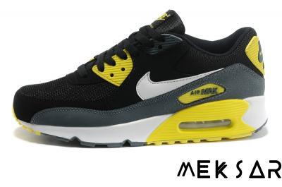 Nike Air Max 90 Czarne Szare Żółte Białe