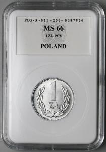 4641. 1 zł 1978 w opakowaniu PCG