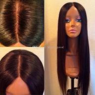 Włosy Brazylijskie human full lace wig silk top