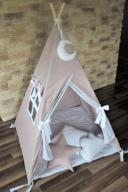 Namiot wigwam TIPI od ręki, cappuccino, zestaw XL