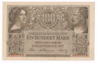 Polska OST 100 marek 1918 Kowno st. 3+
