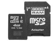 KARTA Micro SD SDHC 4GB GOODRAM + adapter