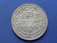 Turcja srebro 5 kurus 1907 (1293)