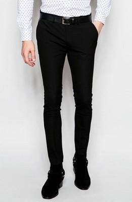 f33 spodnie exASOS super skinny elaganckie W32 L34