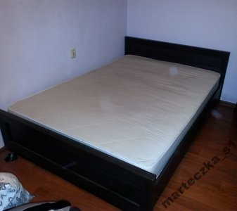 łóżko Brw Wenge Duże Podwójnematerac I Stelaż