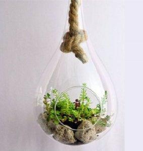 Kula Szklana Kropla Duża Dekoracja Na Rośliny