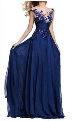 Sukienka Wieczorowa Maxi Granatowa Roz 48 6727259484 Oficjalne Archiwum Allegro