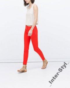 zara outlet spodnie czerwone