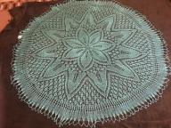 turkusowa serweta obrus ręcznie robiony na prezent