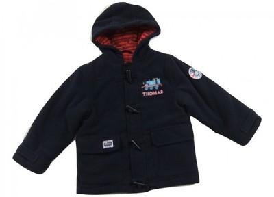 Granatowa zimowa kurtka z kapturem_THOMAS_98cm