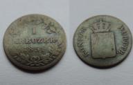 NIEMCY 1 KREUZER 1851 WURTTEMBERG SREBRO