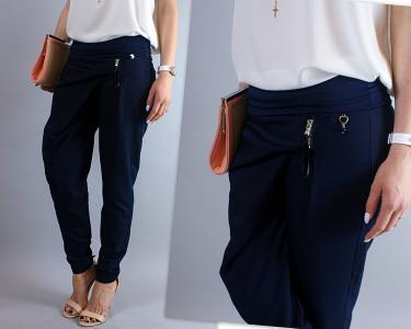 1835103110 295 Spodnie RINASCIMENTO eleganckie GRANATOWE S 36 - 5325638806 ...