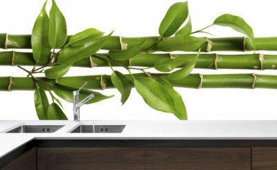 Szkło Z Grafiką Do Kuchni Zielony Bambus 120x50cm